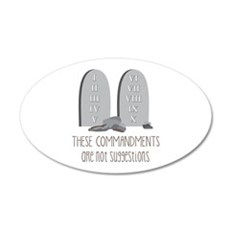 These Commandments One Not Suggestions Wall Decal