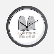 These Commandments One Not Suggestions Wall Clock