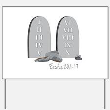 Exodus 20:1-17 Yard Sign