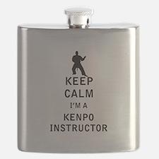 Keep Calm I'm a Kenpo Instructor Flask