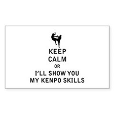 Keep Calm or i'll Show You My Kenpo Skills Decal