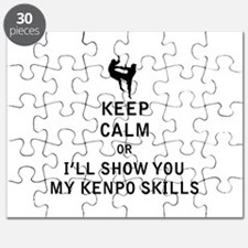 Keep Calm or i'll Show You My Kenpo Skills Puzzle
