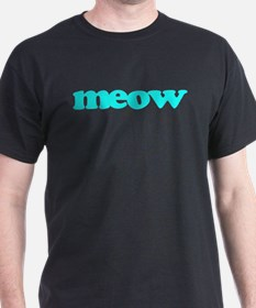 meow in blue T-Shirt