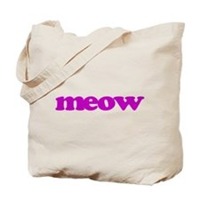 meow in purple Tote Bag