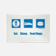 Cute Dogfood Rectangle Magnet