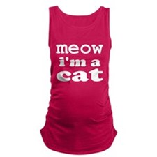 Meow I'm A Cat Maternity Tank Top