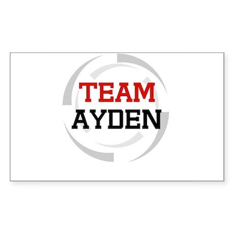 Ayden Rectangle Sticker