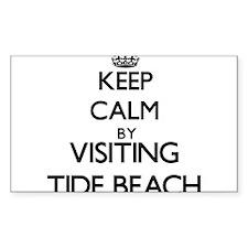 Keep calm by visiting Tide Beach California Sticke