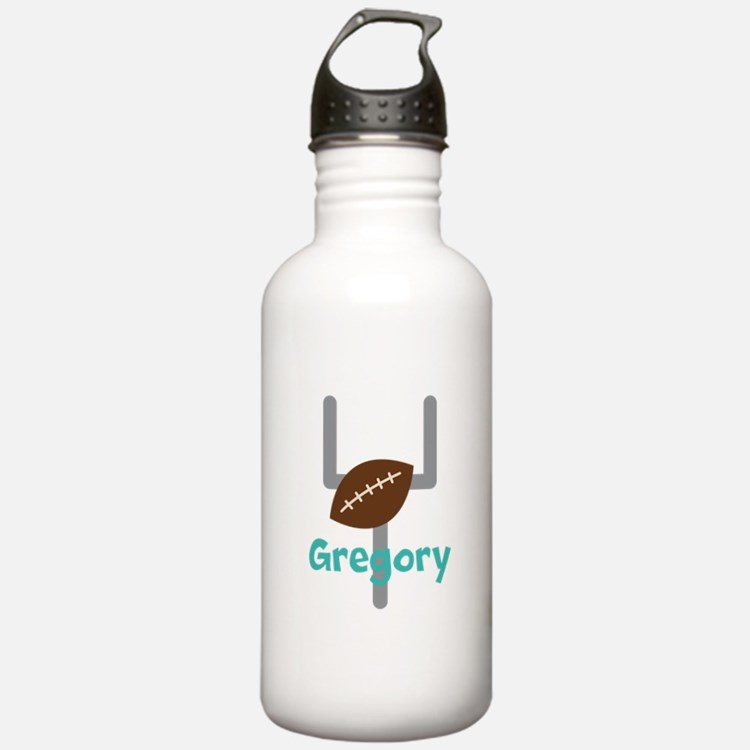 Personalized Football Goal Water Bottle