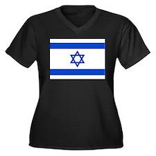 Israel Women's Plus Size V-Neck Dark T-Shirt