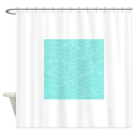 Coral Reef Blue Seaweed Shower Curtain By NauticalLittleTreasures