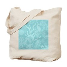Blue Undersea Coral Shells Tote Bag