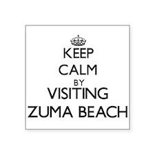 Keep calm by visiting Zuma Beach California Sticke