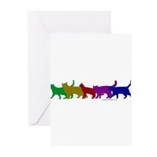 Rainbow cats Greeting Cards (Pk of 10)