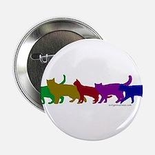 "Rainbow cats 2.25"" Button"