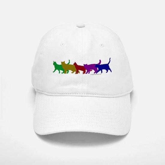 Rainbow cats Baseball Baseball Cap