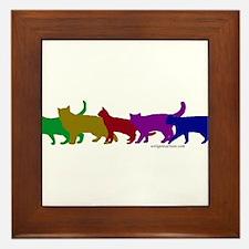 Rainbow cats Framed Tile