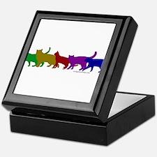 Rainbow cats Keepsake Box