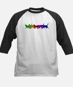 Rainbow cats Kids Baseball Jersey