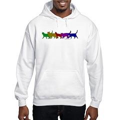 Rainbow cats Hoodie