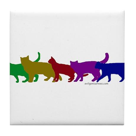 Rainbow cats Tile Coaster