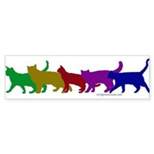 Rainbow cats Bumper Car Sticker