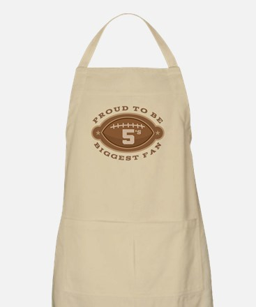 Football Number 5 Biggest Fan Apron