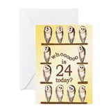24th birthday Greeting Cards