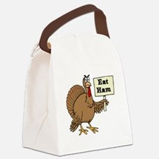 Turkey say Eat Ham Canvas Lunch Bag
