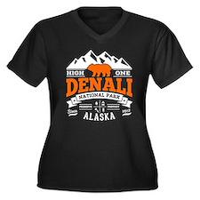 Denali Vinta Women's Plus Size V-Neck Dark T-Shirt