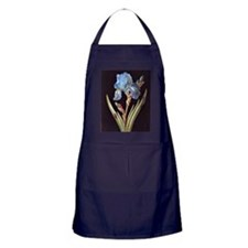 Blue Iris painting Apron (dark)
