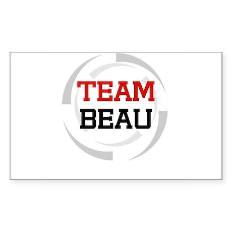 Beau Rectangle Sticker
