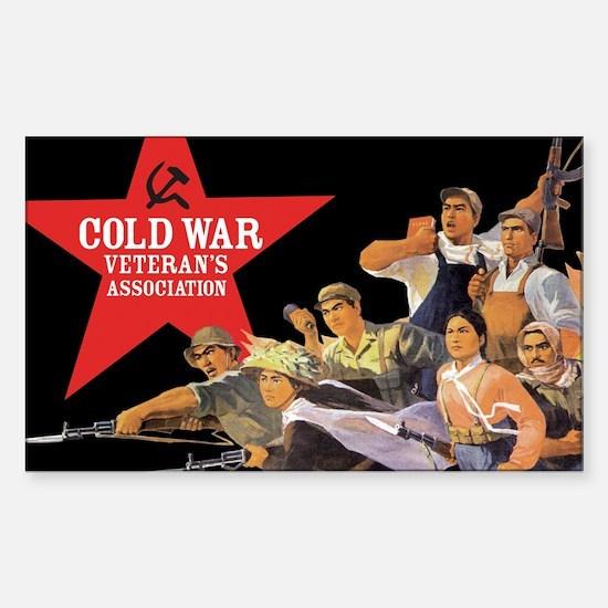 Cold War Veteran's Assn. Rectangle Decal