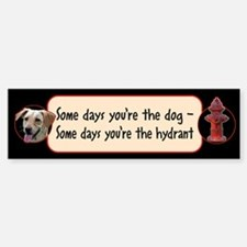 Dog - Hydrant Bumper Bumper Bumper Sticker