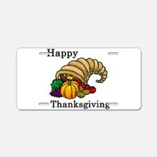 Cute Thanksgiving Aluminum License Plate