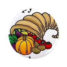 """Cute Thanksgiving 3.5"""" Button"""