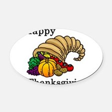 Cute Thanksgiving Oval Car Magnet