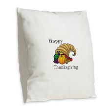 Unique Thanksgiving Burlap Throw Pillow