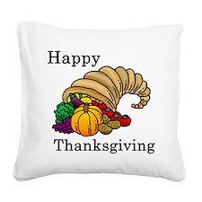Cute Thanksgiving Square Canvas Pillow