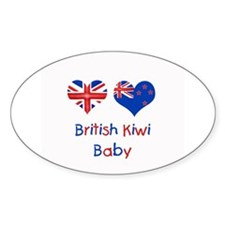 British Kiwi Baby Oval Decal