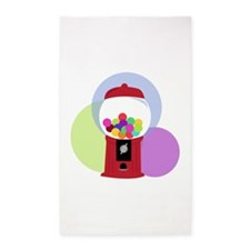 Gumball Machine 3'x5' Area Rug