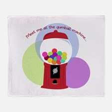 Meet Me At The Gumball Machine Throw Blanket