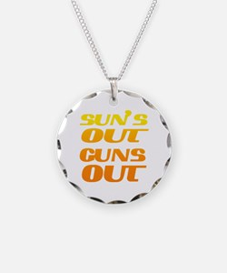 sun's out guns out fitness a Necklace
