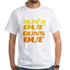 sun's out guns out fitness and T-Shirt