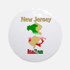 New Jersey Italian Ornament (Round)