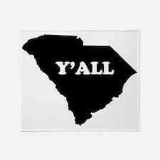 South Carolina Yall Throw Blanket