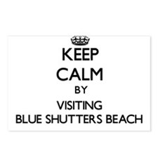 Cute Blue shutters Postcards (Package of 8)