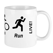 Swim Bike Run Live Coffee Mugs