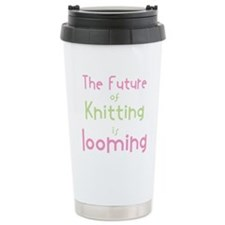 Cute Loom knitting Travel Mug