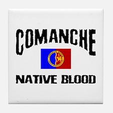 Comanche Native Blood Tile Coaster